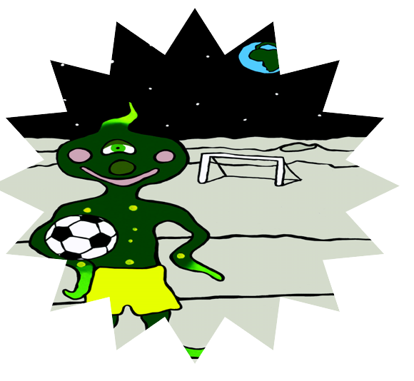 Alien playing Football Transparent